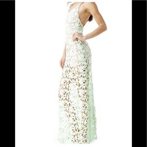 NWT SKY Brand Stunning Lace Maxi Dress XS